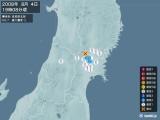 2008年08月04日19時08分頃発生した地震