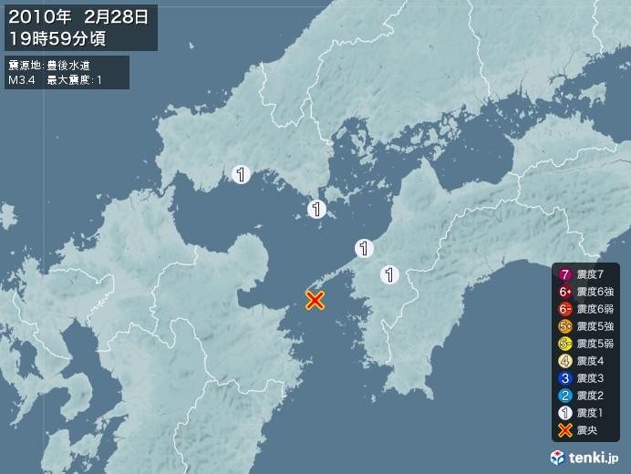 地震情報(2010年02月28日19時59分発生)