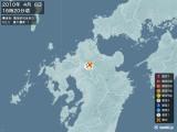 2010年04月08日16時20分頃発生した地震
