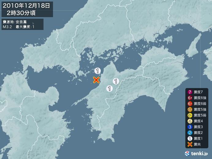 地震情報(2010年12月18日02時30分発生)