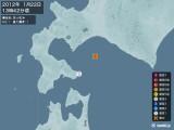 2012年01月22日13時42分頃発生した地震