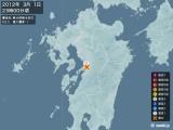 2012年03月01日23時00分頃発生した地震
