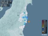 2012年03月01日23時50分頃発生した地震