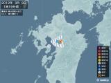 2012年03月09日01時19分頃発生した地震