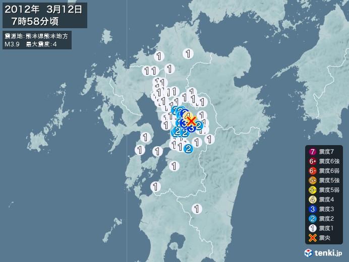 地震情報(2012年03月12日07時58分発生)