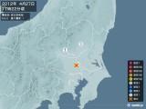 2012年04月27日17時22分頃発生した地震
