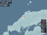 2012年07月25日01時17分頃発生した地震
