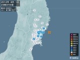 2012年08月01日23時37分頃発生した地震