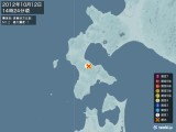 2012年10月12日14時24分頃発生した地震