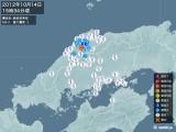 2012年10月14日15時34分頃発生した地震
