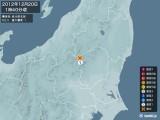 2012年12月20日01時40分頃発生した地震
