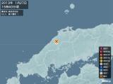 2013年01月27日15時40分頃発生した地震