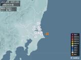 2013年04月12日08時45分頃発生した地震