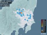 2013年04月30日22時09分頃発生した地震