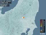 2013年04月30日22時21分頃発生した地震