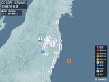 2013年06月28日13時36分頃発生した地震