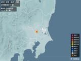 2013年08月15日22時00分頃発生した地震