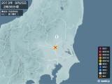 2013年09月25日02時36分頃発生した地震