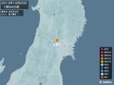 2013年10月25日01時54分頃発生した地震