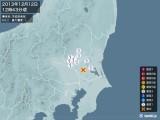 2013年12月12日12時43分頃発生した地震