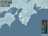 2014年02月27日23時33分頃発生した地震