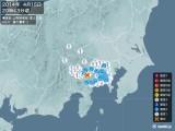 2014年04月15日20時43分頃発生した地震