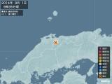 2014年09月01日09時35分頃発生した地震