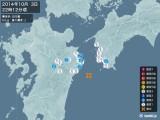 2014年10月03日22時12分頃発生した地震