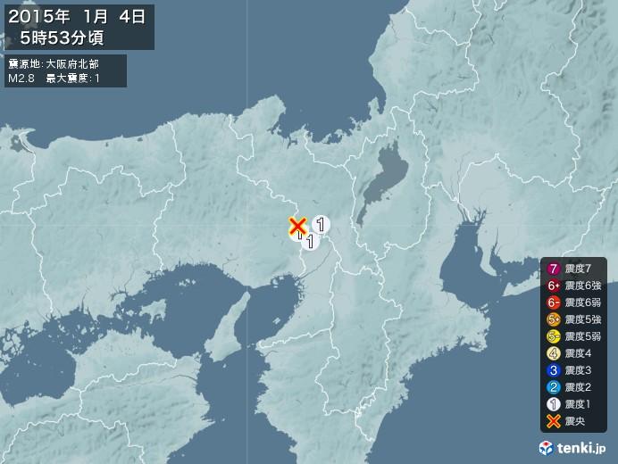地震情報(2015年01月04日05時53分発生)