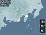 2015年01月21日20時36分頃発生した地震