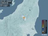 2015年04月26日22時08分頃発生した地震