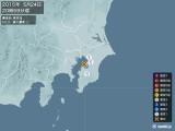 2015年05月24日20時59分頃発生した地震
