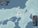 2015年07月06日13時45分頃発生した地震