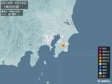 2016年04月14日01時24分頃発生した地震