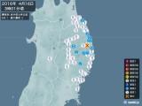 2016年04月16日03時01分頃発生した地震