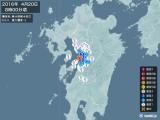 2016年04月20日08時00分頃発生した地震