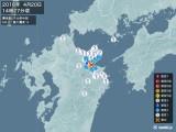 2016年04月20日14時27分頃発生した地震