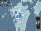 2016年04月20日19時00分頃発生した地震