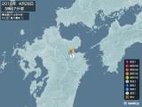 2016年04月28日03時47分頃発生した地震