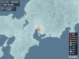 2016年04月28日11時19分頃発生した地震