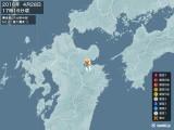 2016年04月28日17時16分頃発生した地震