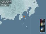 2016年07月24日01時02分頃発生した地震