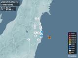 2016年12月27日19時45分頃発生した地震