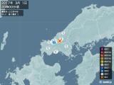 2017年03月01日20時00分頃発生した地震