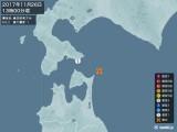 2017年11月26日13時00分頃発生した地震