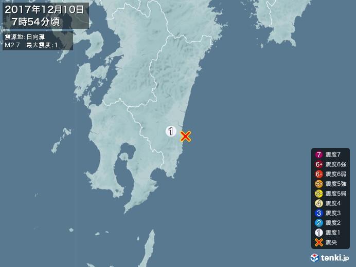 地震情報(2017年12月10日07時54分発生)