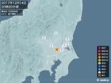 2017年12月14日20時20分頃発生した地震