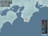 2018年03月27日21時08分頃発生した地震