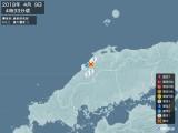 2018年04月09日04時33分頃発生した地震