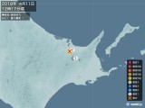 2018年04月11日12時17分頃発生した地震